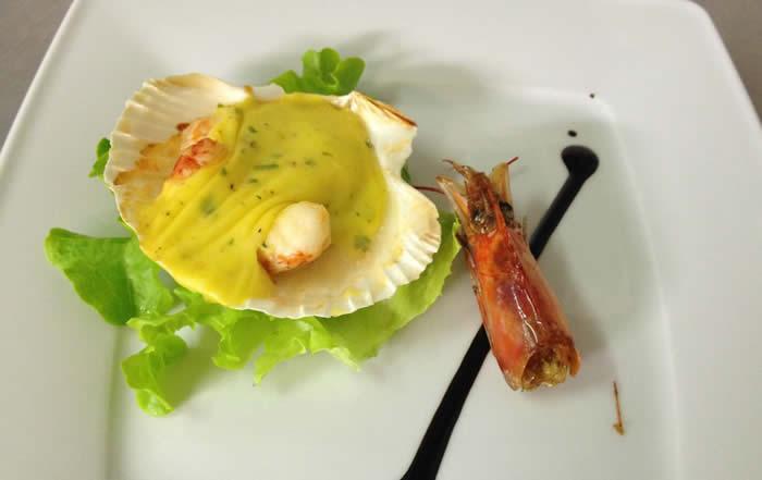 Antipasto di pesce ristorante