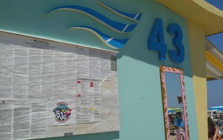 Tablissement balneaire onda 43 rimini cimino hotels for Bagno 90 rimini