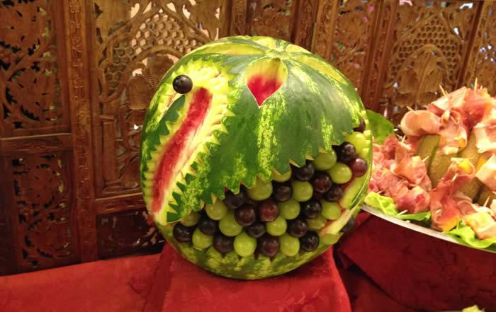 Composizione artistica di frutta